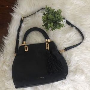 Vince Camuto • NWOT Black Gold Elva Satchel Bag